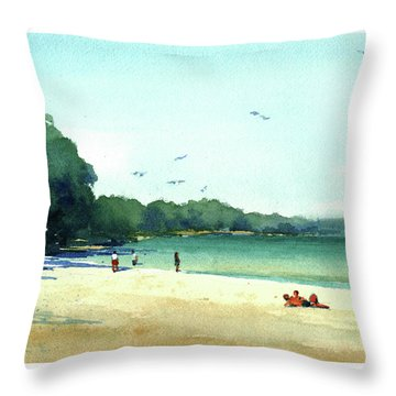 Harrington Beach, Wisconsin Throw Pillow