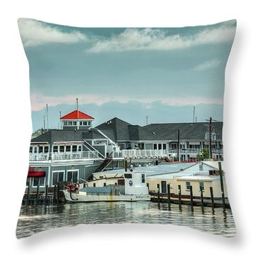 Harris Crab House Throw Pillow
