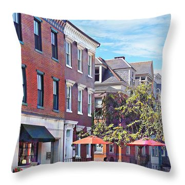 Harrisburg Pa - Coffee Shop Throw Pillow