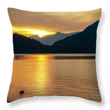 Harrison Lake, British Columbia Throw Pillow