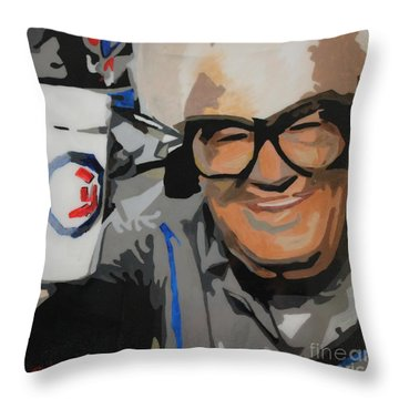 Harry Caray Throw Pillow