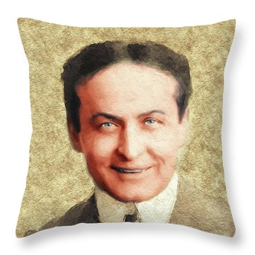Harry Houdini, Famous Magician Throw Pillow