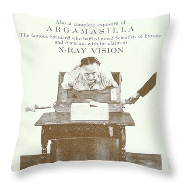 Harry Houdini - Pamphlet Exposing The Tricks Used By The Boston Medium Margery, 1924 Throw Pillow