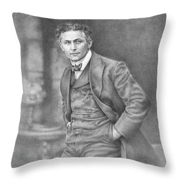 Harry Houdini Throw Pillow by Steven Paul Carlson