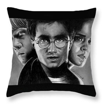 Harry Potter Fanart Throw Pillow by Jasmina Susak