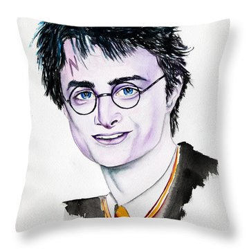 Harry Potter Throw Pillow by Maria Barry