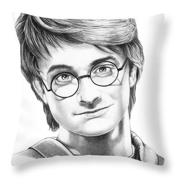 Harry Potter Throw Pillow by Murphy Elliott
