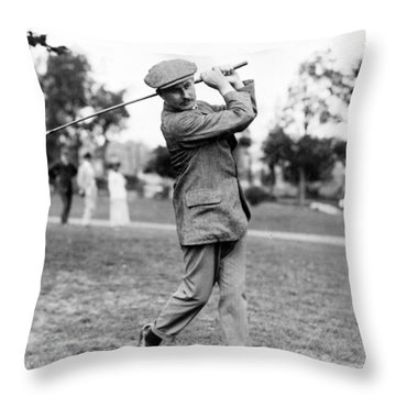 Harry Vardon - Golfer Throw Pillow by International  Images