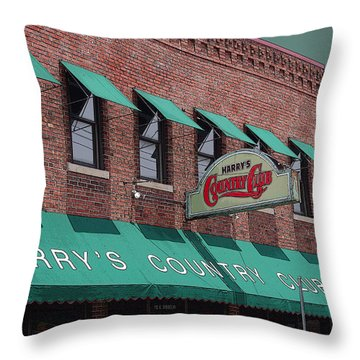 Harry's Country Club Throw Pillow