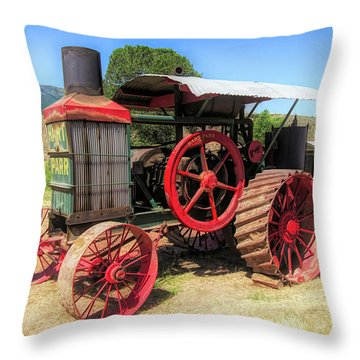 Hart Parr 1911 30 60 Tractor Throw Pillow