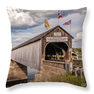 Hartland Covered Bridge Throw Pillow