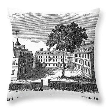 Harvard University, 1755 Throw Pillow by Granger