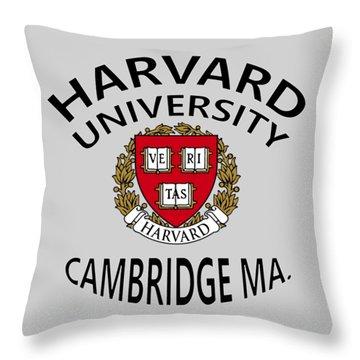 Harvard University Cambridge M A  Throw Pillow