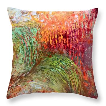Harvest Abstract Throw Pillow