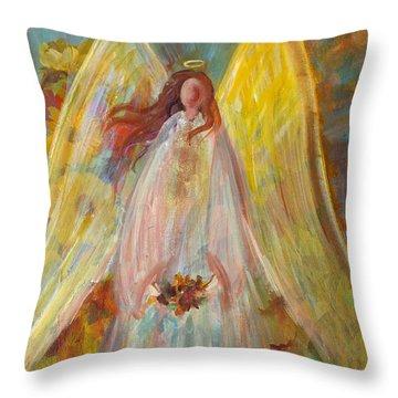 Harvest Autumn Angel Throw Pillow