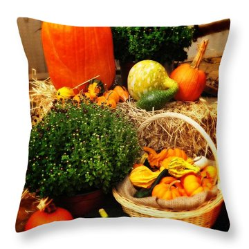 Harvest Throw Pillow by Bill Cannon