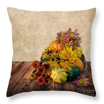 Harvest Bounty Throw Pillow