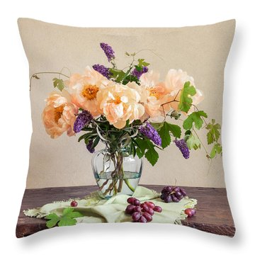 Harvest Bouquet Throw Pillow