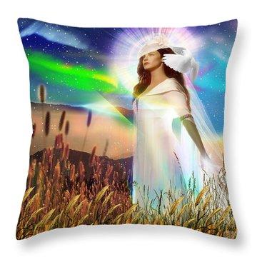 Harvest Bride Throw Pillow by Dolores Develde