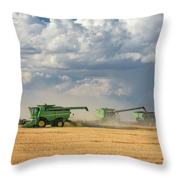 Harvest Clouds Throw Pillow