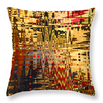 Throw Pillow featuring the photograph Harvest Dawn by Diane E Berry