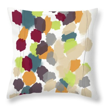 Harvest Day- Abstract Art By Linda Woods Throw Pillow