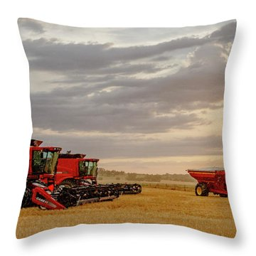 Throw Pillow featuring the photograph Harvest Delayed by Rob Graham
