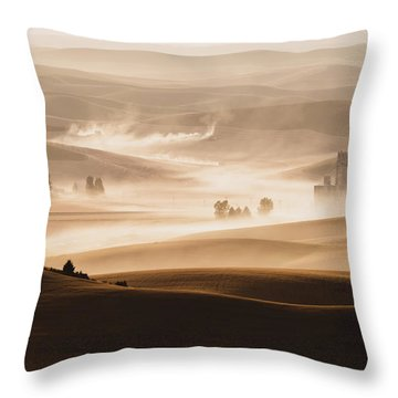 Harvest Dust Throw Pillow by Chris McKenna