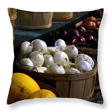 Throw Pillow featuring the photograph Harvest by Elfriede Fulda