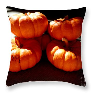 Harvest Huddle Throw Pillow