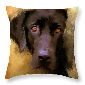 Harvest Lab Throw Pillow