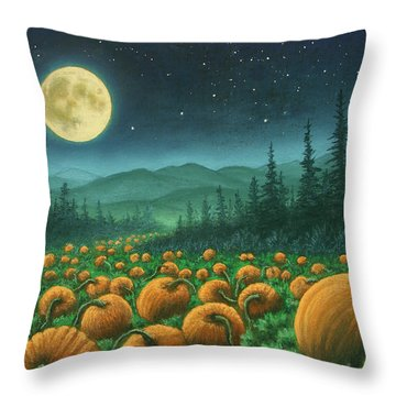Harvest Moon 01 Throw Pillow