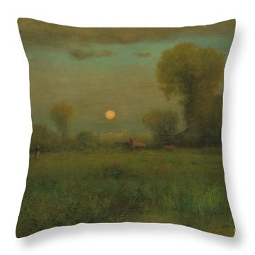 Harvest Moon, 1891 Throw Pillow