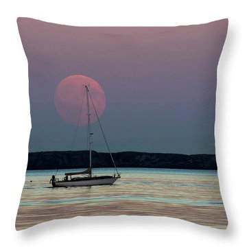 Harvest Moon - 365-193 Throw Pillow by Inge Riis McDonald