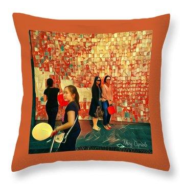 Harvest Moon Festival Throw Pillow