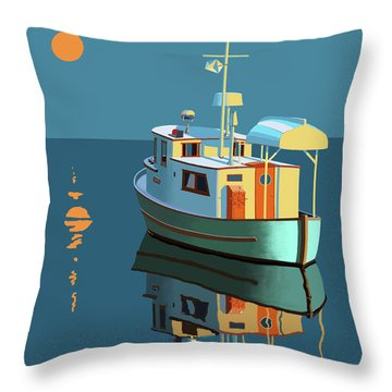 Harvest Moon Throw Pillow by Gary Giacomelli