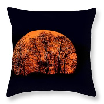 Harvest  Moon Rising Throw Pillow