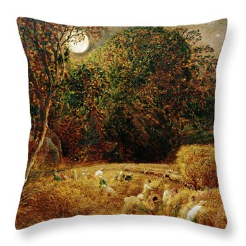 Harvest Moon Throw Pillow by Samuel Palmer