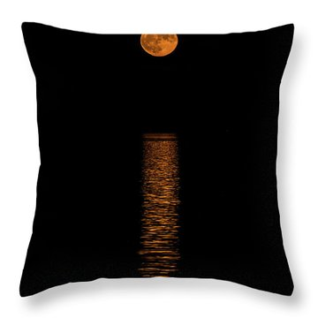 Throw Pillow featuring the photograph Harvest Moonrise by Paul Freidlund