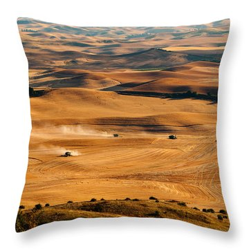 Harvest Overview Throw Pillow
