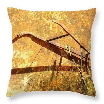Harvest Plow Throw Pillow