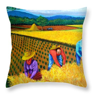 Harvest Season Throw Pillow