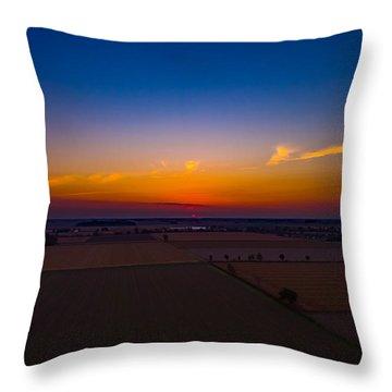 Harvest Sunrise Throw Pillow