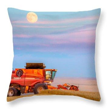 Harvest Supermoon Throw Pillow