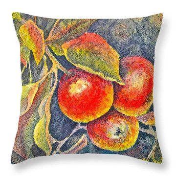 Throw Pillow featuring the painting Harvest Time by Carolyn Rosenberger