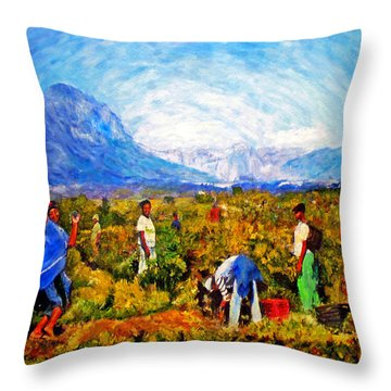 Impressionistic Vineyard Throw Pillows