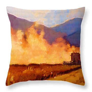 Wheat Throw Pillows