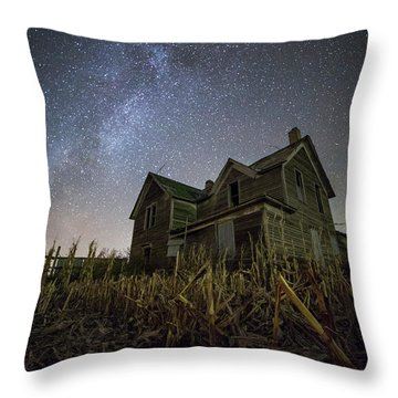Throw Pillow featuring the photograph Harvested  by Aaron J Groen