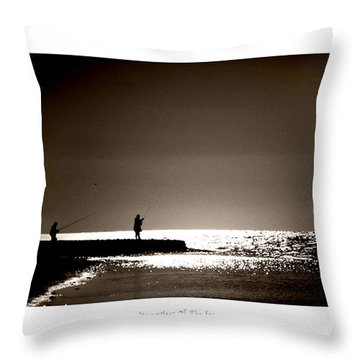 Harvester Of The Sea Throw Pillow by Martina  Rathgens
