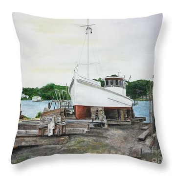 Harvey A. Drewer Throw Pillow